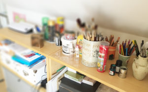 Arbeitsplatz Kreativ-Board