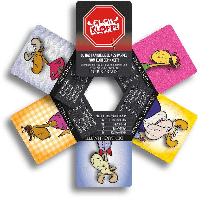 Lustiges Karten-Zocken mit coolen Elch-Typen