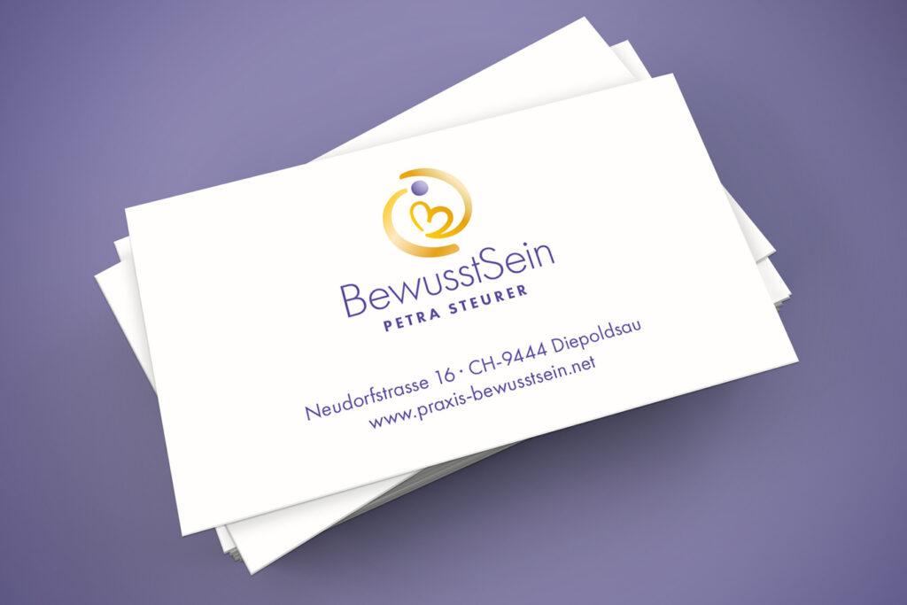 Visitenkarten Petra Steurer - Praxis BewusstSein