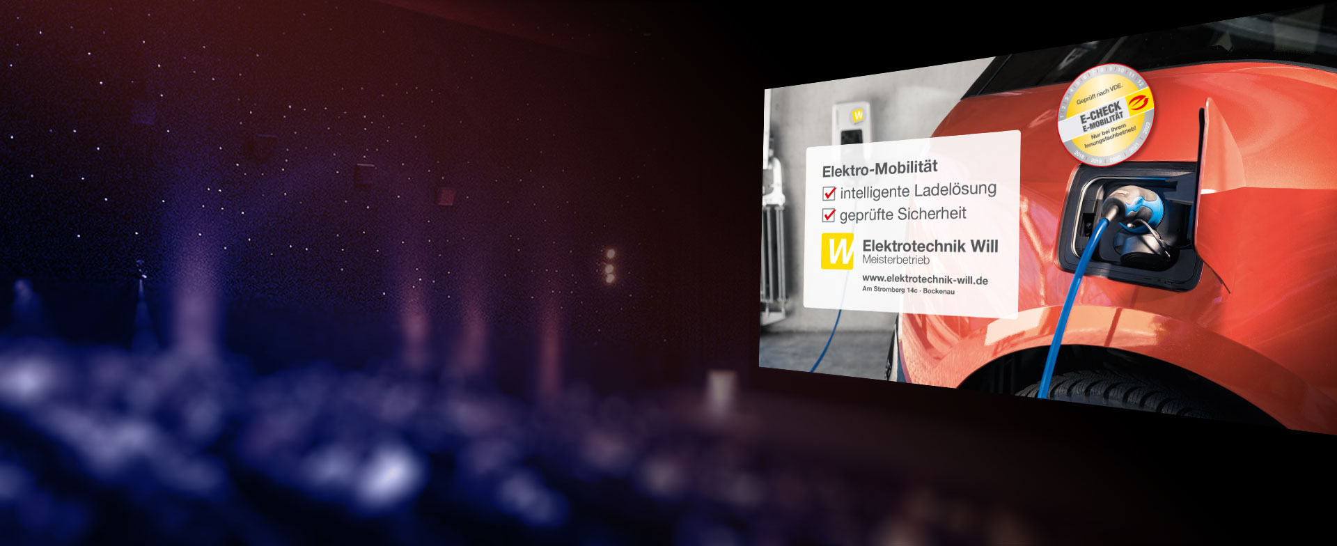 Kinowerbung für Elektrotechnik Will in Bockenau