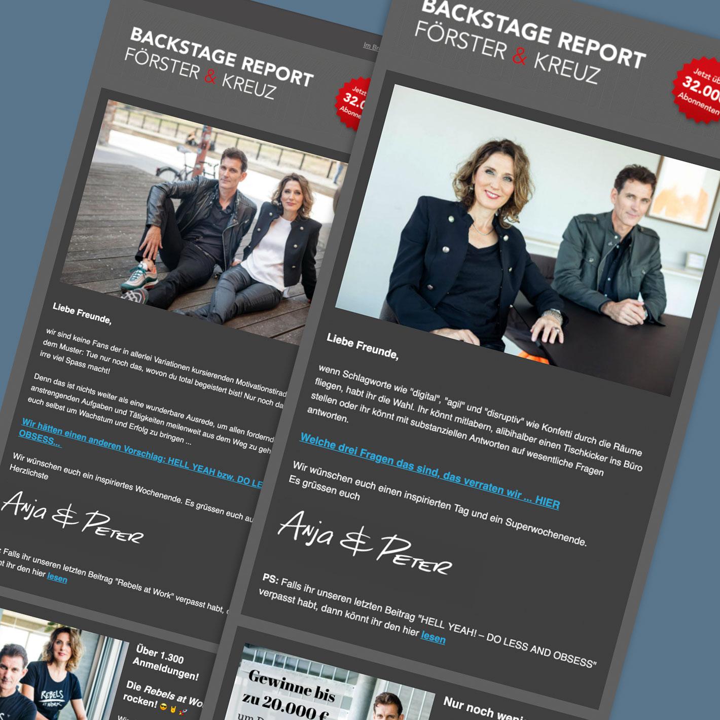 Newsletter Förster & Kreuz