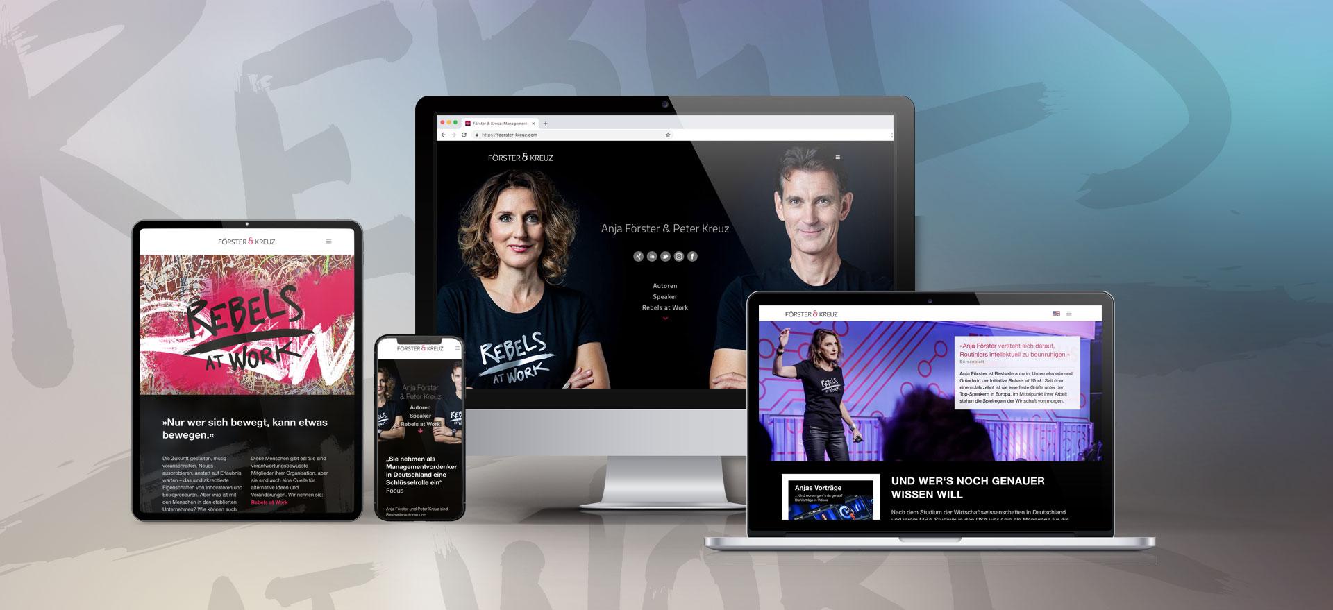 Webseite Förster & Kreuz