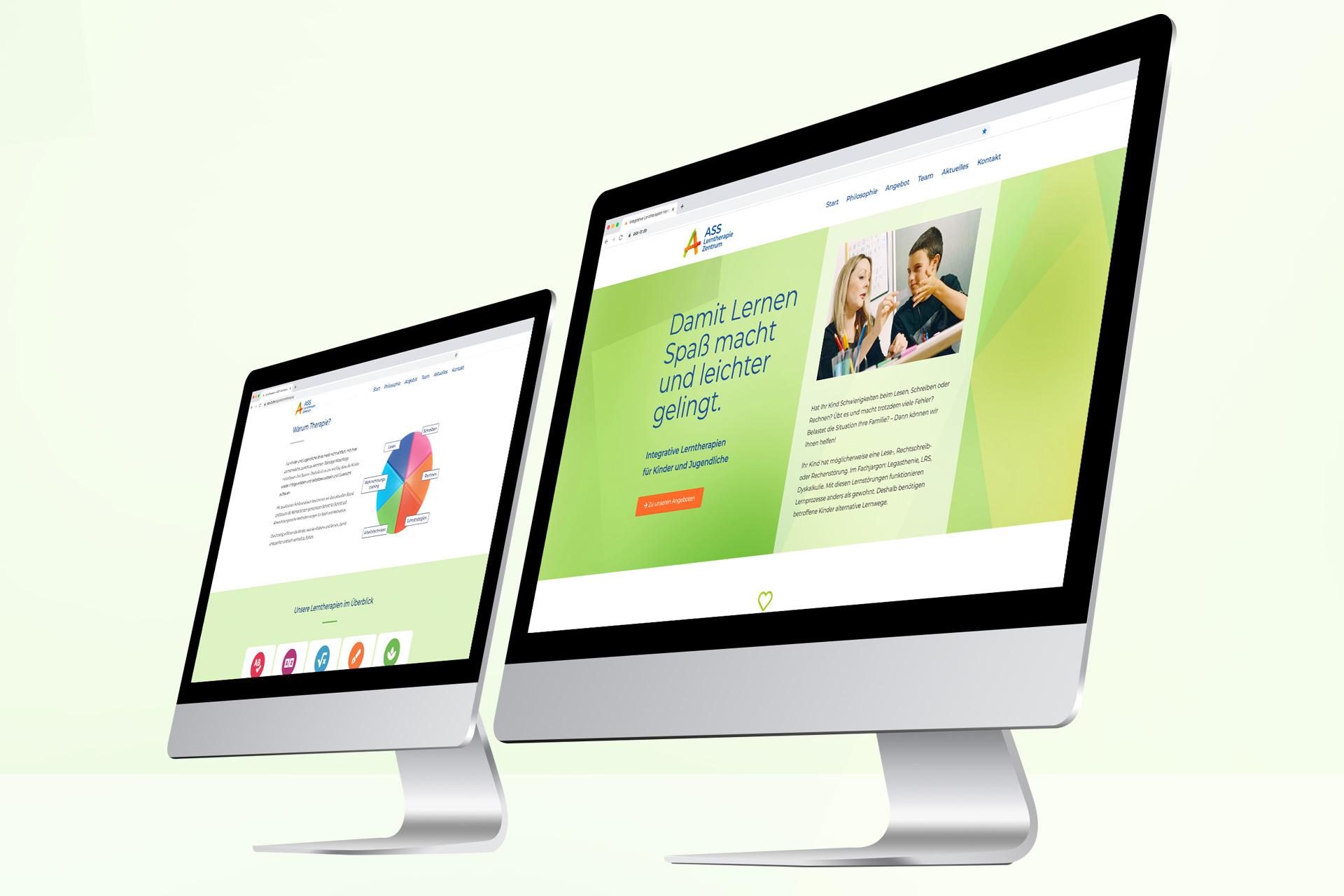 Web-Design für das ASS Lerntherapie Zentrum in Heidelberg und Speyer