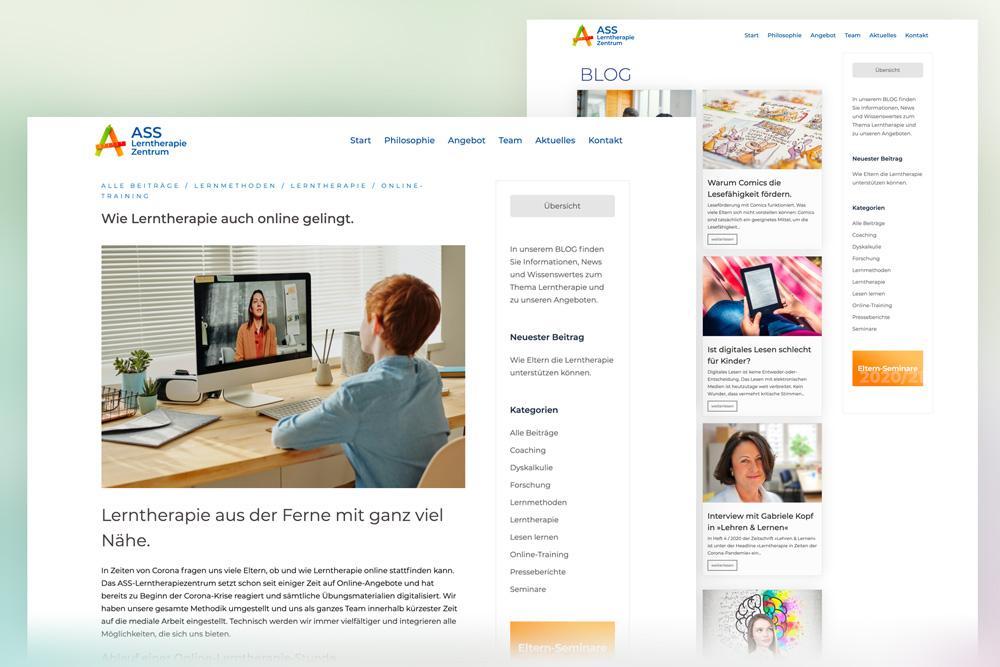 Web-Blog für das ASS Lerntherapie Zentrum in Heidelberg und Speyer