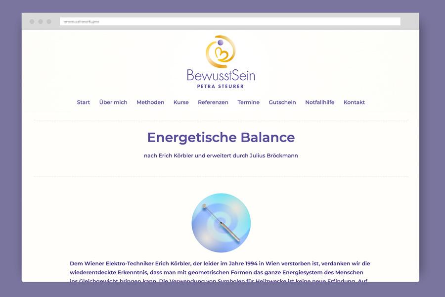 Webseite Petra Steurer - Praxis BewusstSein