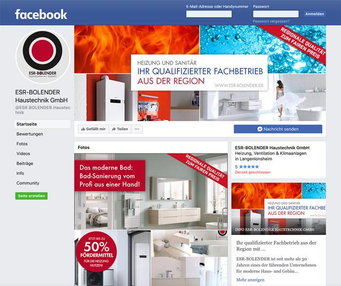 Facebook-Banner für ESR-BOLENDER Haustechnik