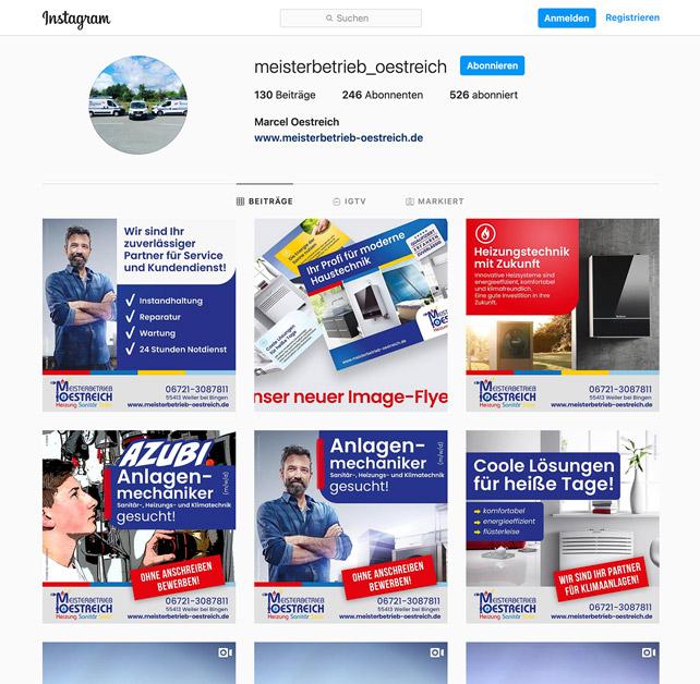 Facebook-Anzeigen für Meisterbetrieb Oestreichaus Weiler bei Bingen