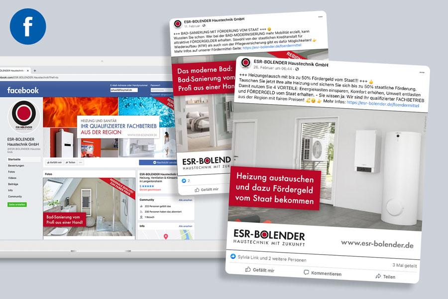 Facebook-Anzeigen für ESR-BOLENDER Haustechnik