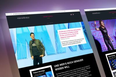 Web-Design für die Speaker und Autoren Förster & Kreuz